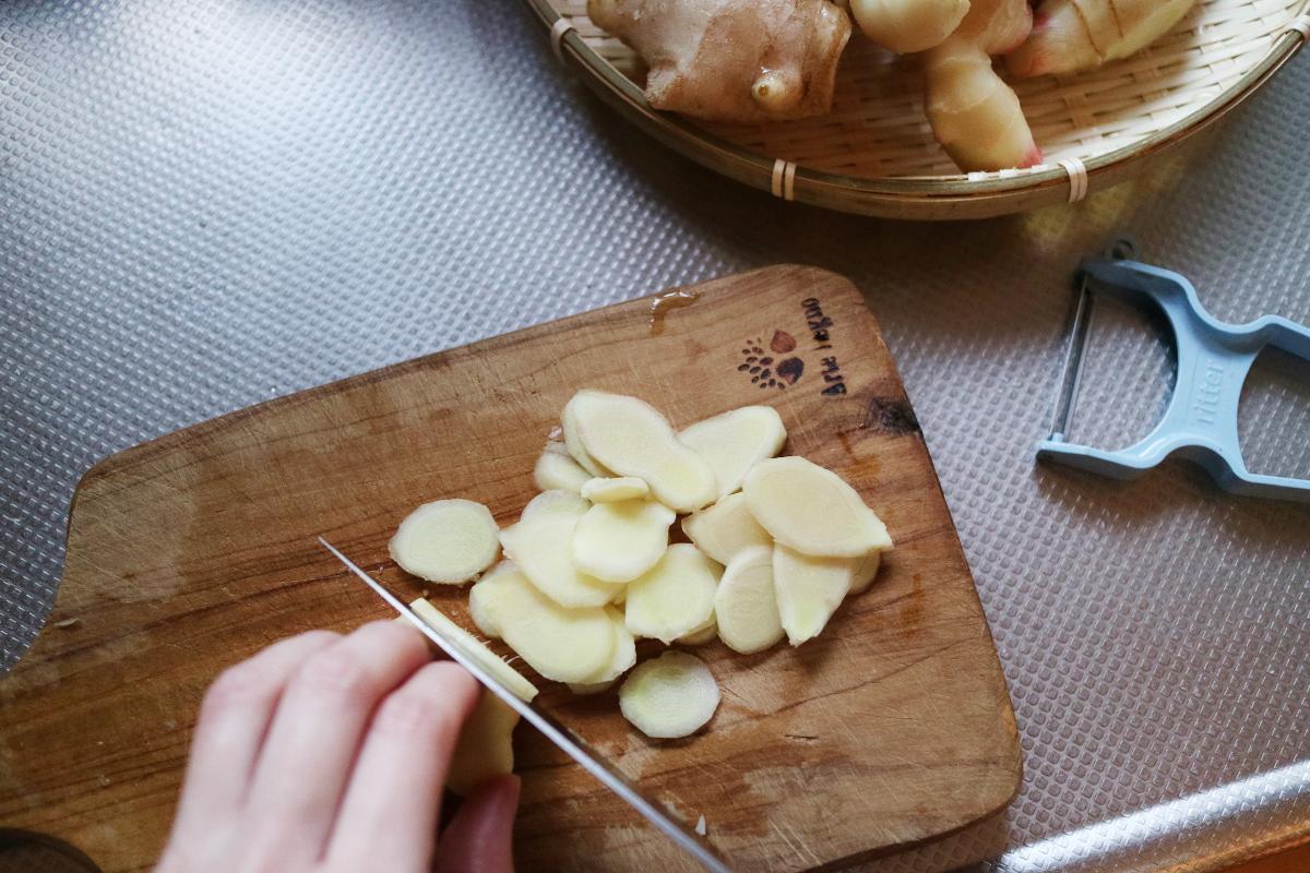 新生姜のジンジャーシロップ