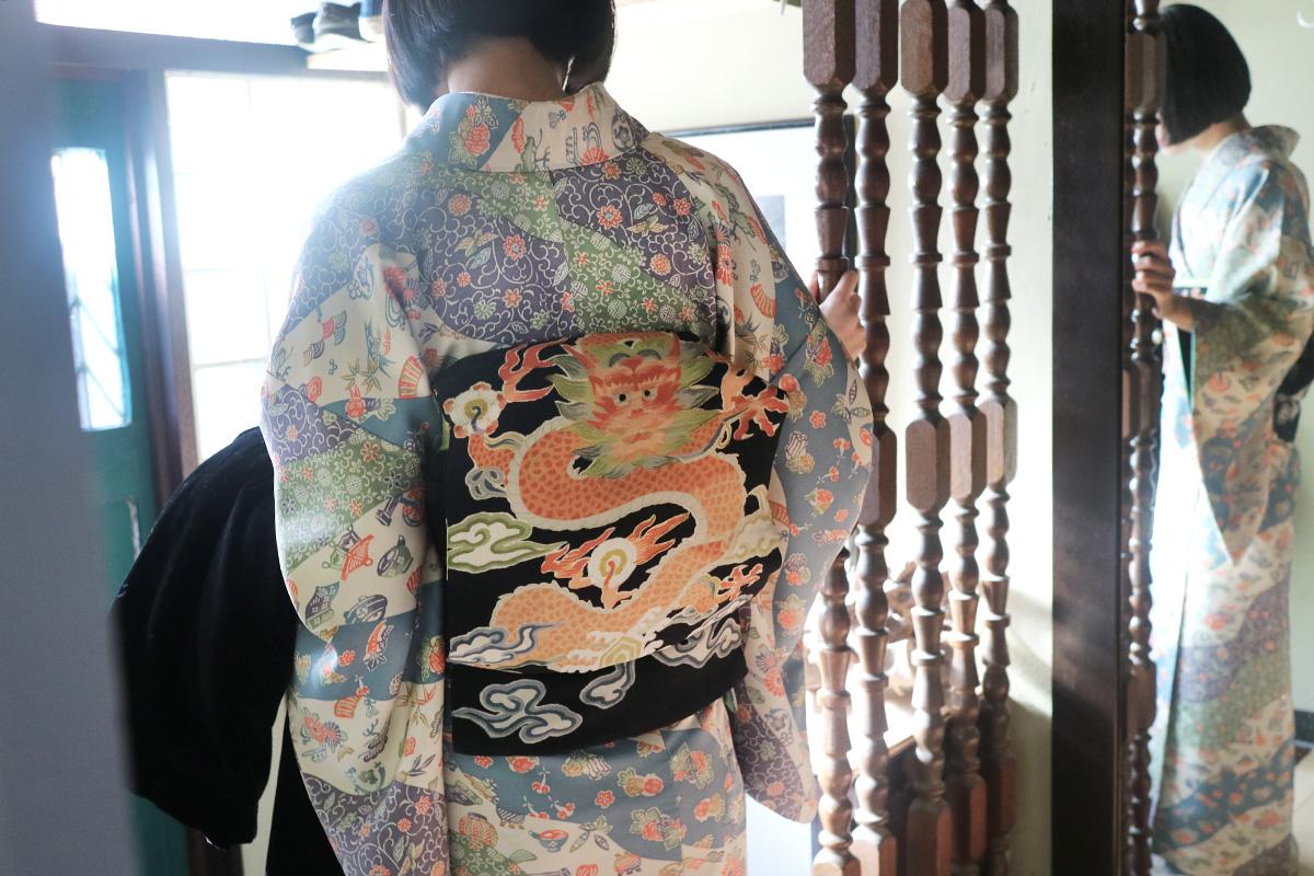 初詣の着物コーディネート