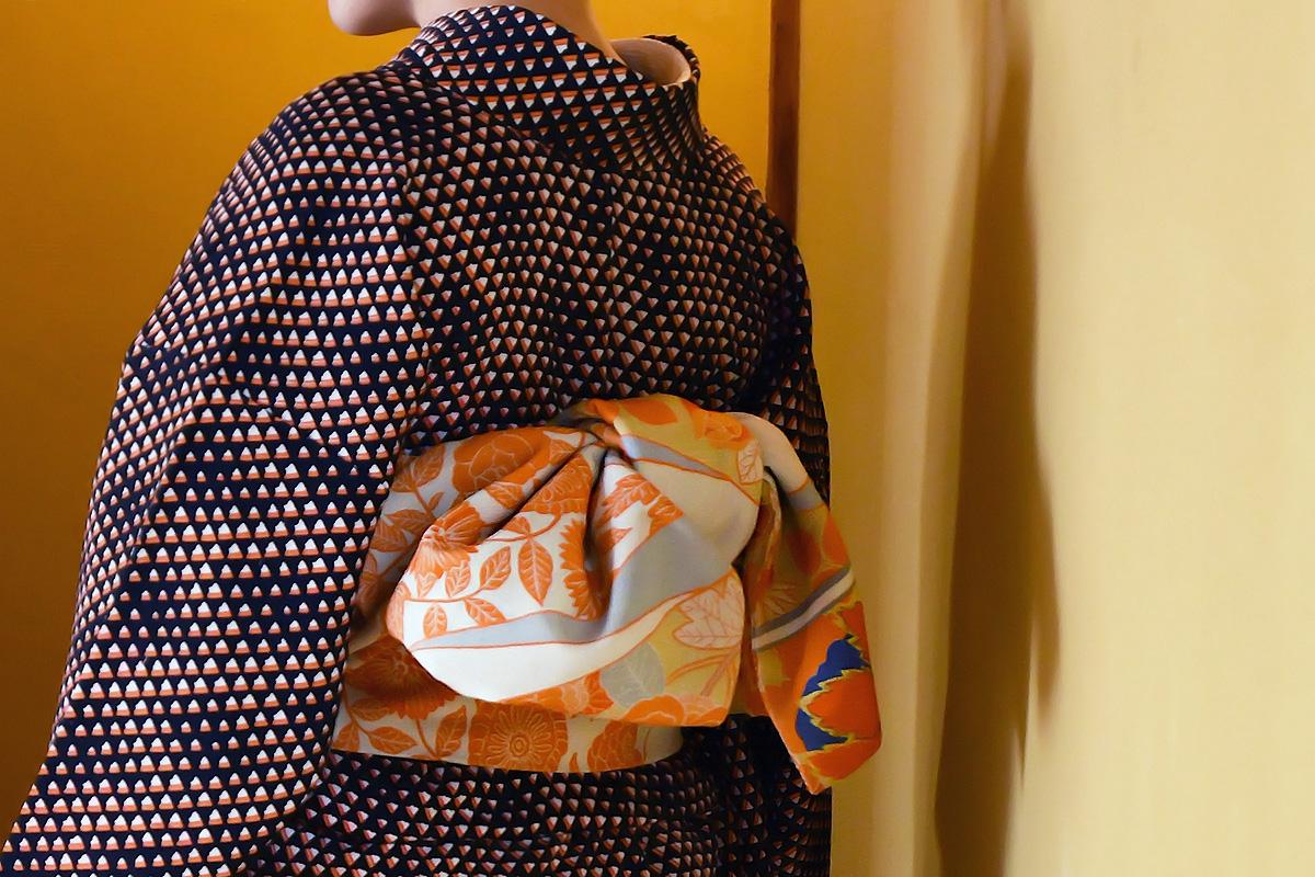 普段着の着物・名古屋帯