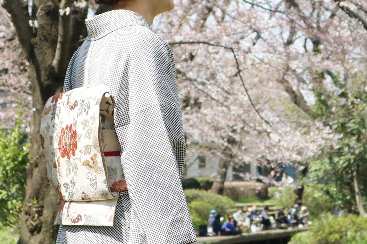 4月袷の着物・小紋