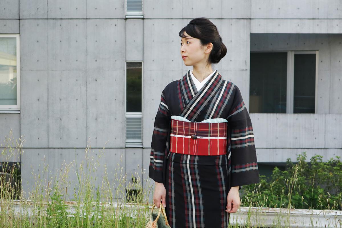 格子の着物
